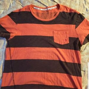 Vintage GUESS Factory Red and Black Striped Shirt